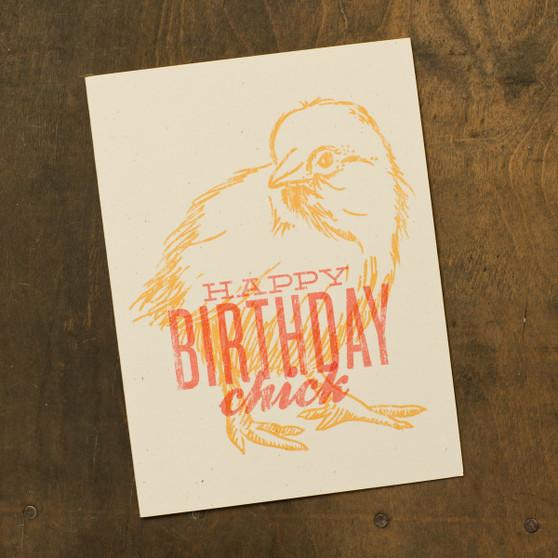 Happy Birthday Chick Card