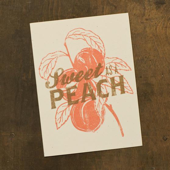 Sweet As A Peach Card