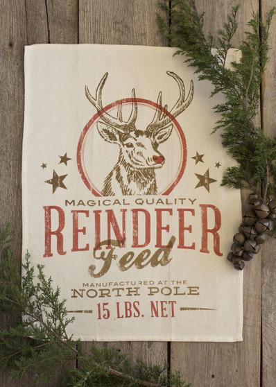 Reindeer Feed Kitchen Towel