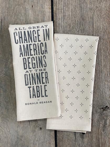 Ronald Reagan Quote Kitchen Towel
