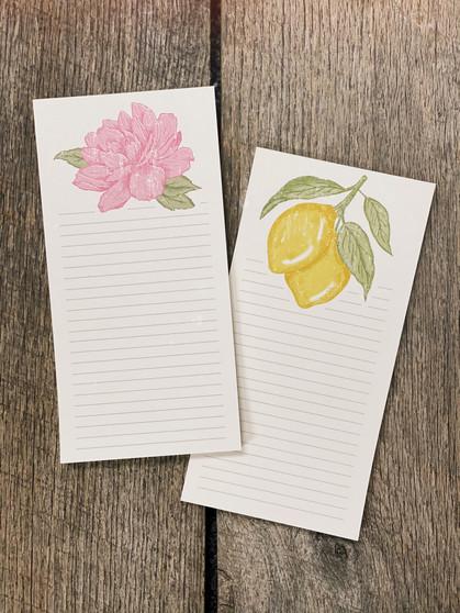 Lemon & Peony - Notepad Bundle