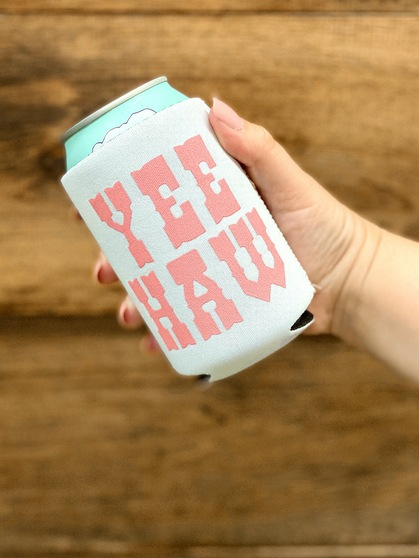 Yeehaw (White/Pink) - Coozie