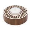 Wooden Tea Light Holder - White Vine