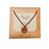 Copper Stamped Heart Necklace