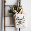 Fresh and Local Market Bag - Cotton Canvas