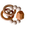 Wood and Silicone Teether Toy - Oat