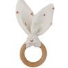 Crinkle Bunny Ears Teether - Hearts