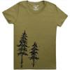 Women's Organic Pine Tree T-shirt, Large