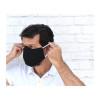Linen Face Mask - Adult, Black Linen