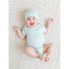 Organic Jersey Knotted Hat - Caribbean - NB-3 Months