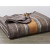 Brown Wool Throw Blanket - Organic