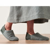 Organic House Slippers - Grey, Small w(6/7)