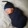 Organic Baby Blankets - Navy Swaddle