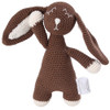 Organic Baby Bunny Toy Fair Trade - Brown