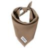 Dog Bandana - Brown Linen, Small (10-14