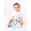 Organic Baby Toys - Handkerchief Lovey Doll - Aqua Stripe