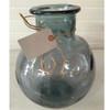 Organic Recycled Glass Vase Balon - Smoke