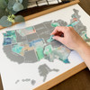 Scratch Off Dreamer Map - United States  -  places you visited
