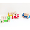 Wooden Toy Truck with Blocks - Blue