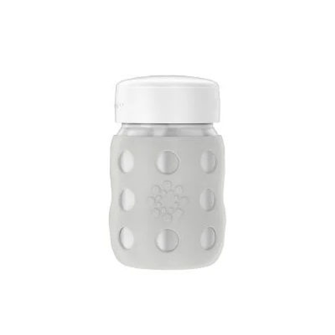 Stainless Steel Baby Bottle with Flat Cap - Grey