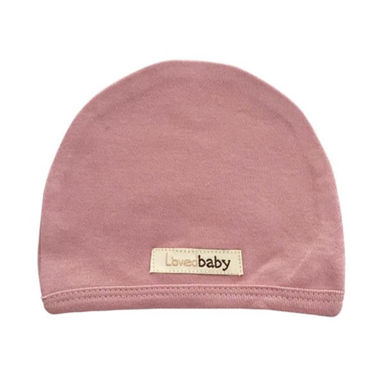 Organic Baby Hat - Mauve, NB-3m