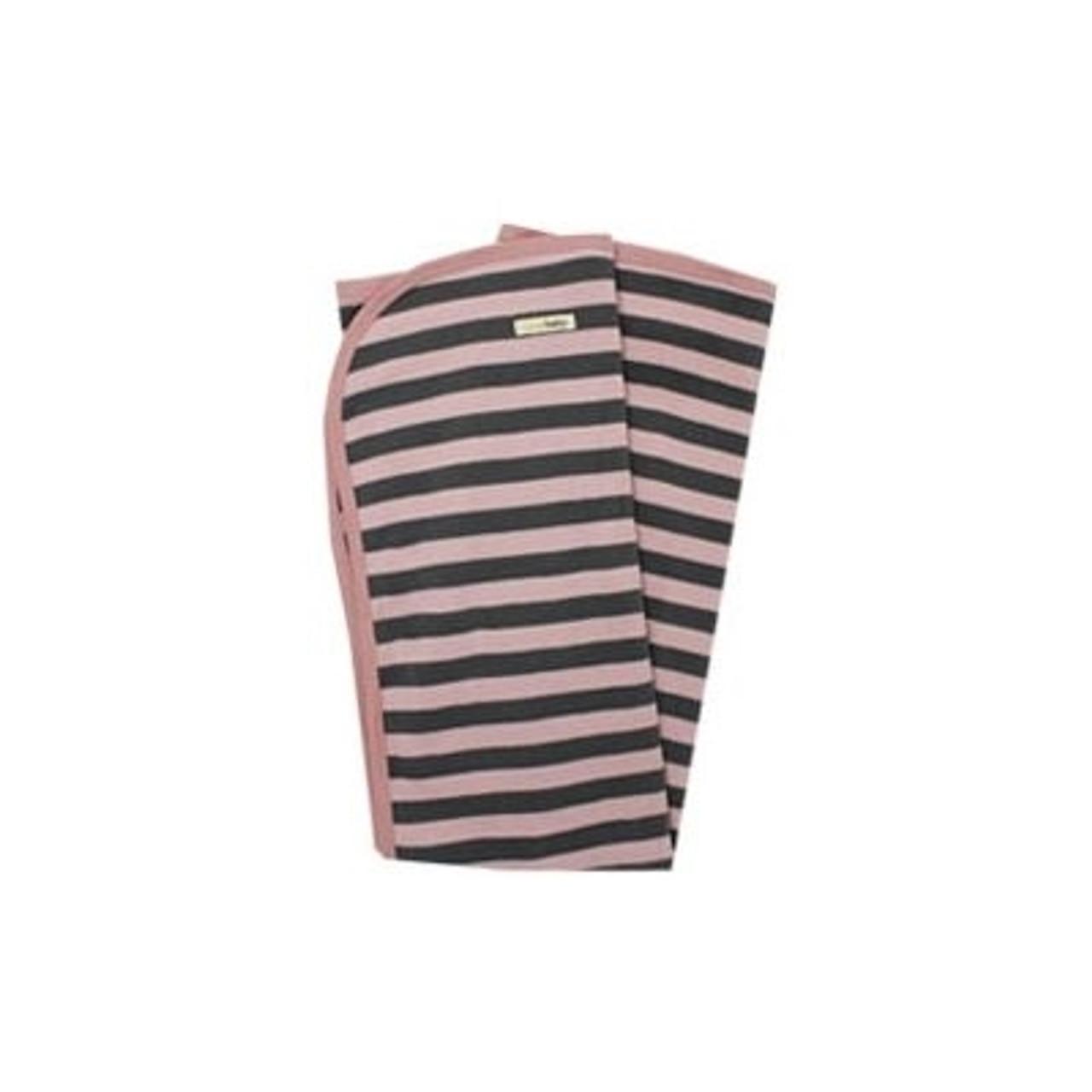 Organic Baby Blankets - Mauve Stripe
