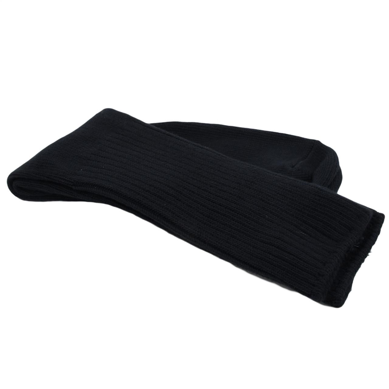 Organic Cotton Crew Socks - Black, Large (w10-11.5, m8-10)