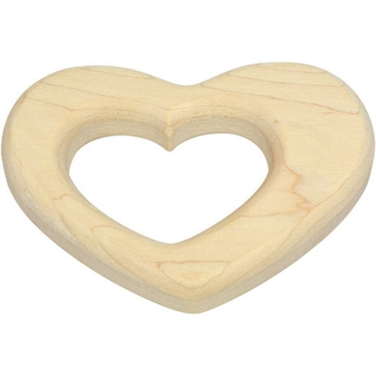 Wooden Baby Toys - Heart Teether