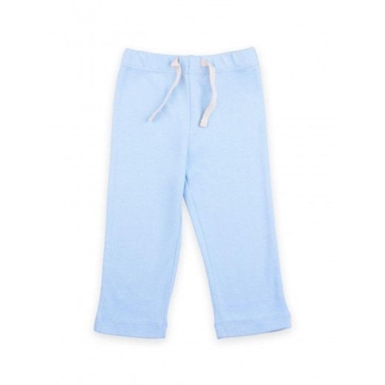 Organic Baby Yoga Pants - 0-3 Months - Blue