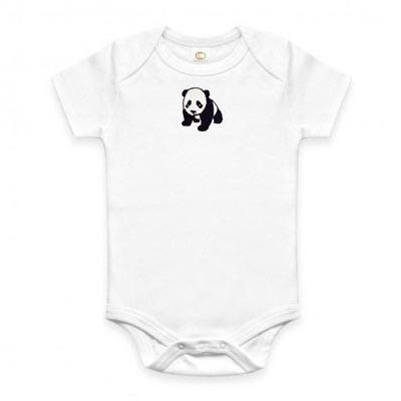 Organic Panda Onesie - 6-12 Months