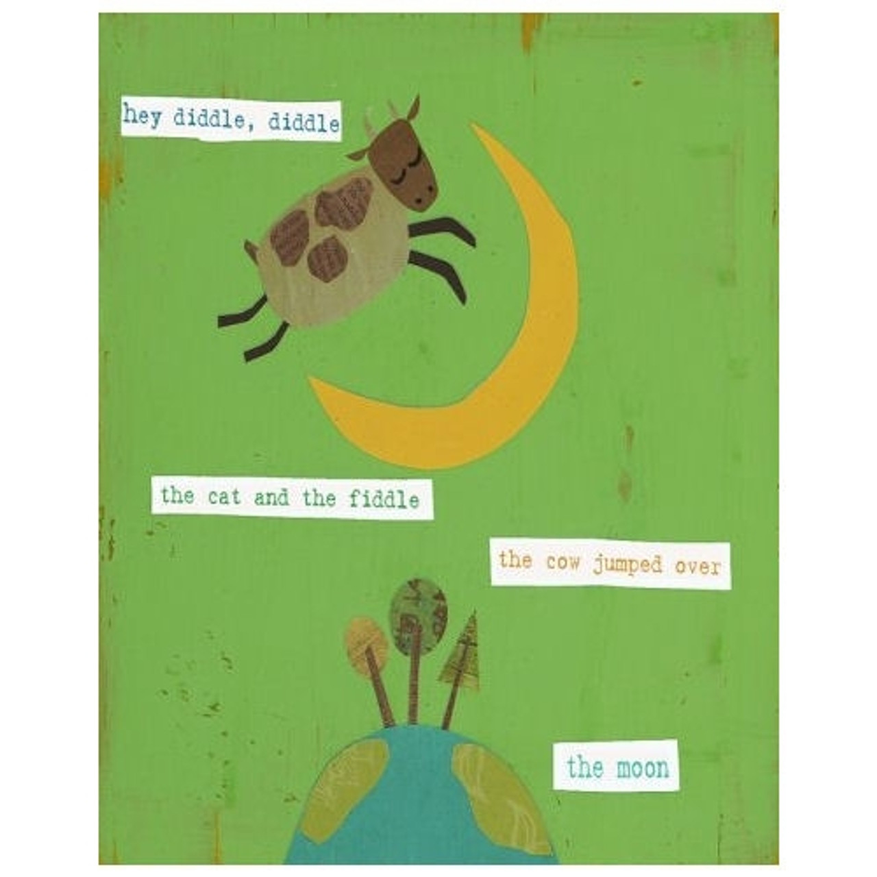 Nursery Wall Art - Hey Diddle Diddle 8