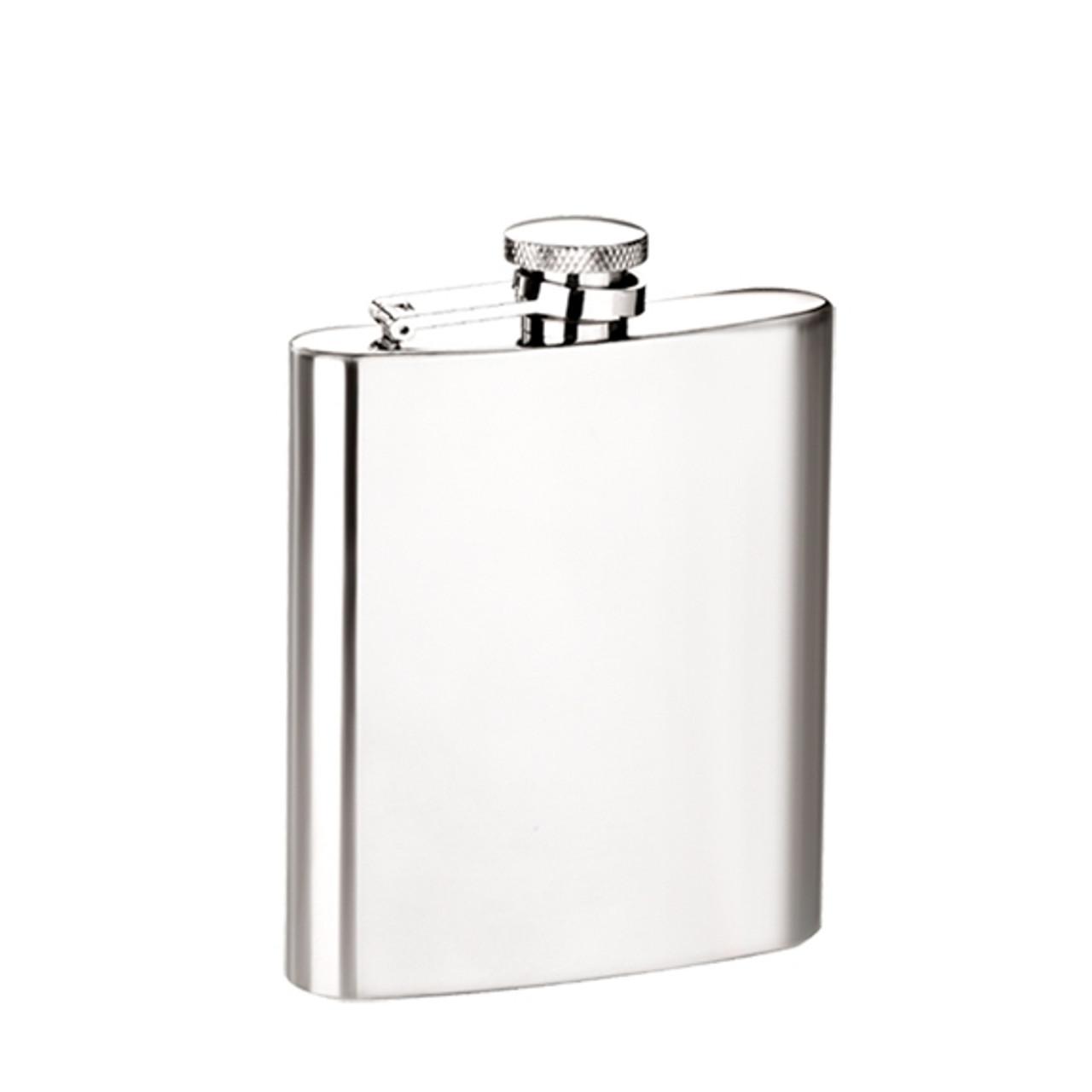 No Frills Silver Flask - 8oz