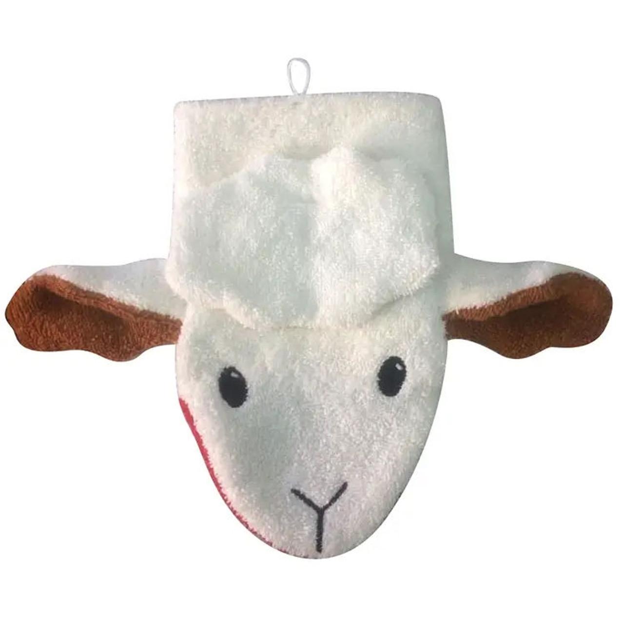 Organic Washcloth Puppet - Sheep