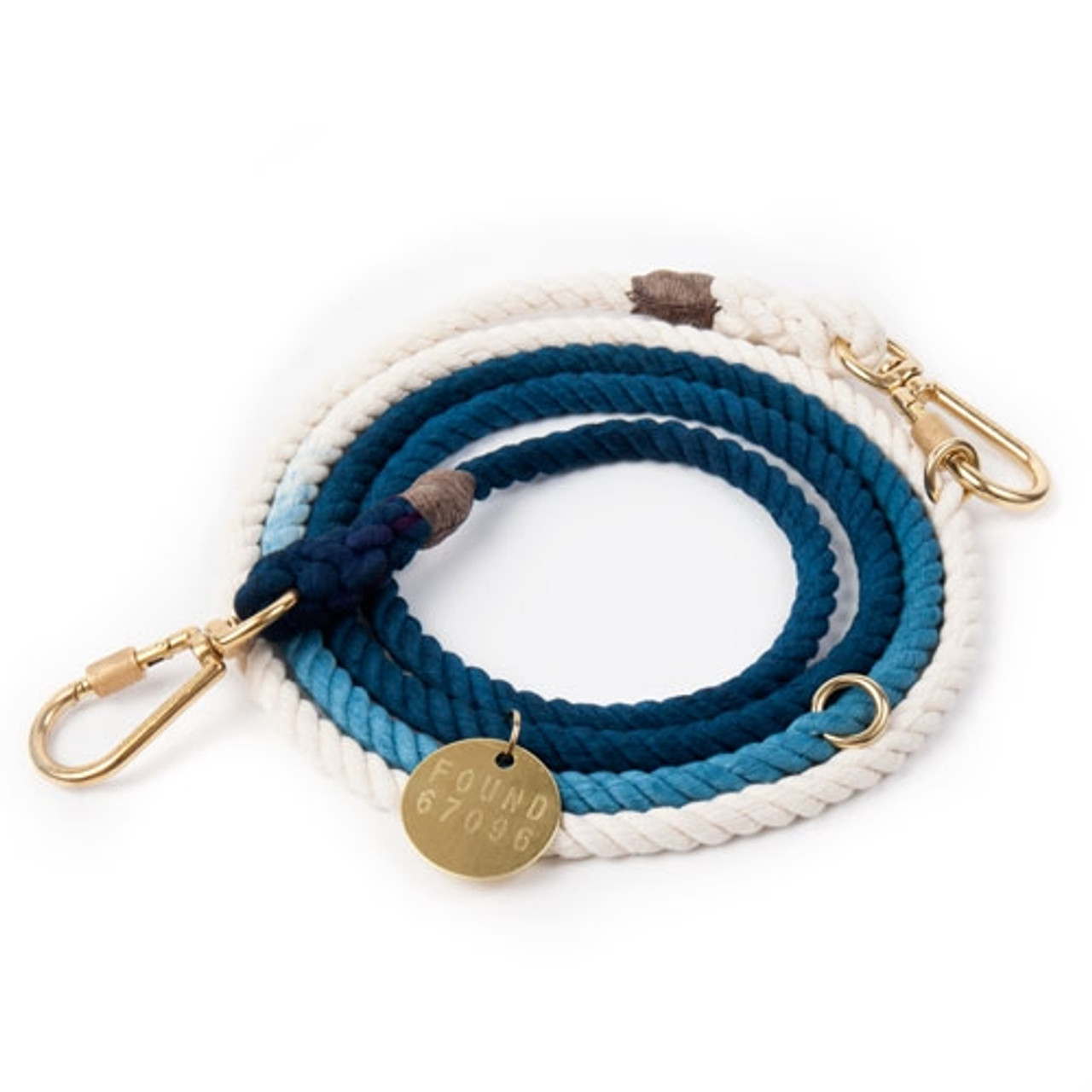 Adjustable Rope Dog Leash - Indigo Ombre