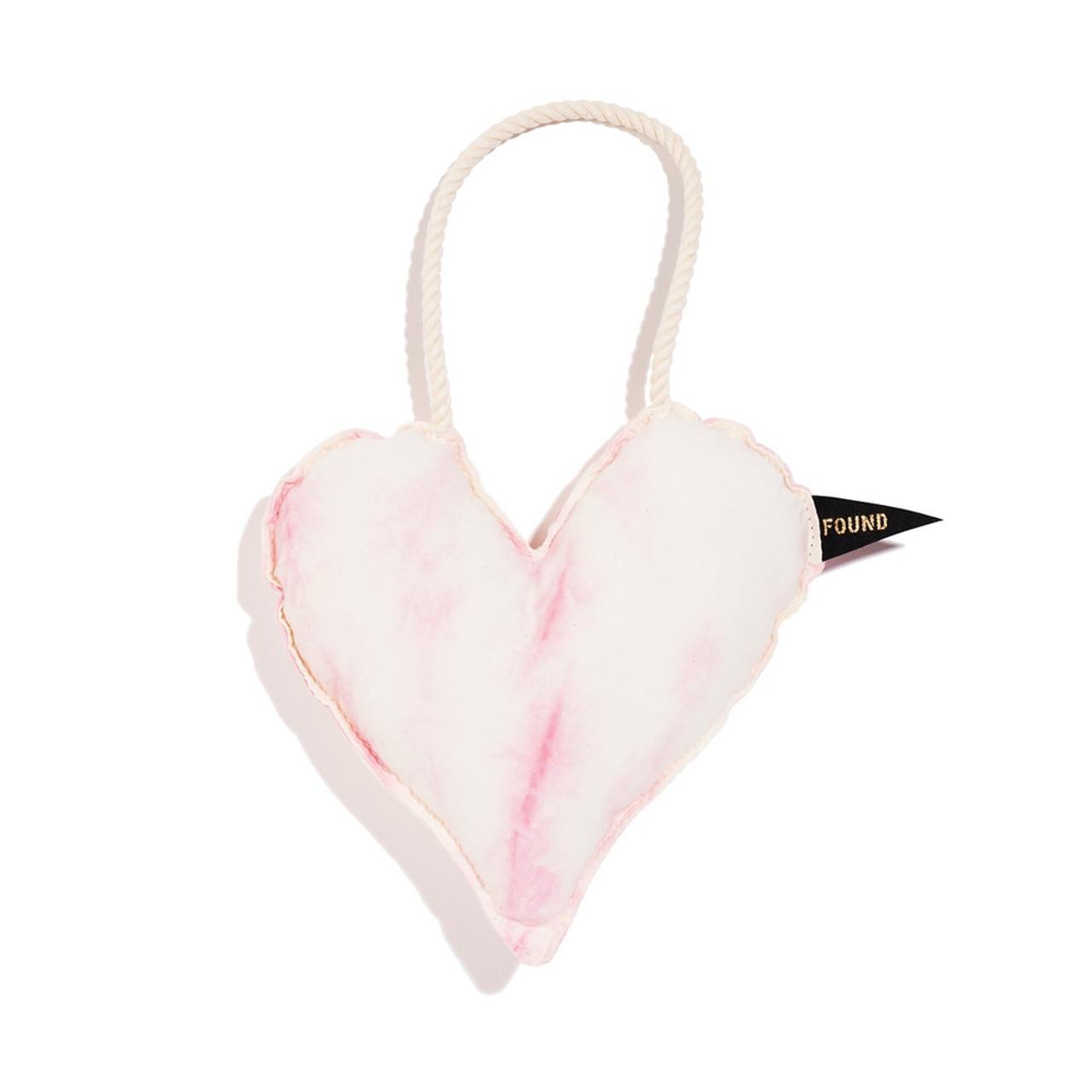 Cotton Heart Dog Toy - Blush, Medium