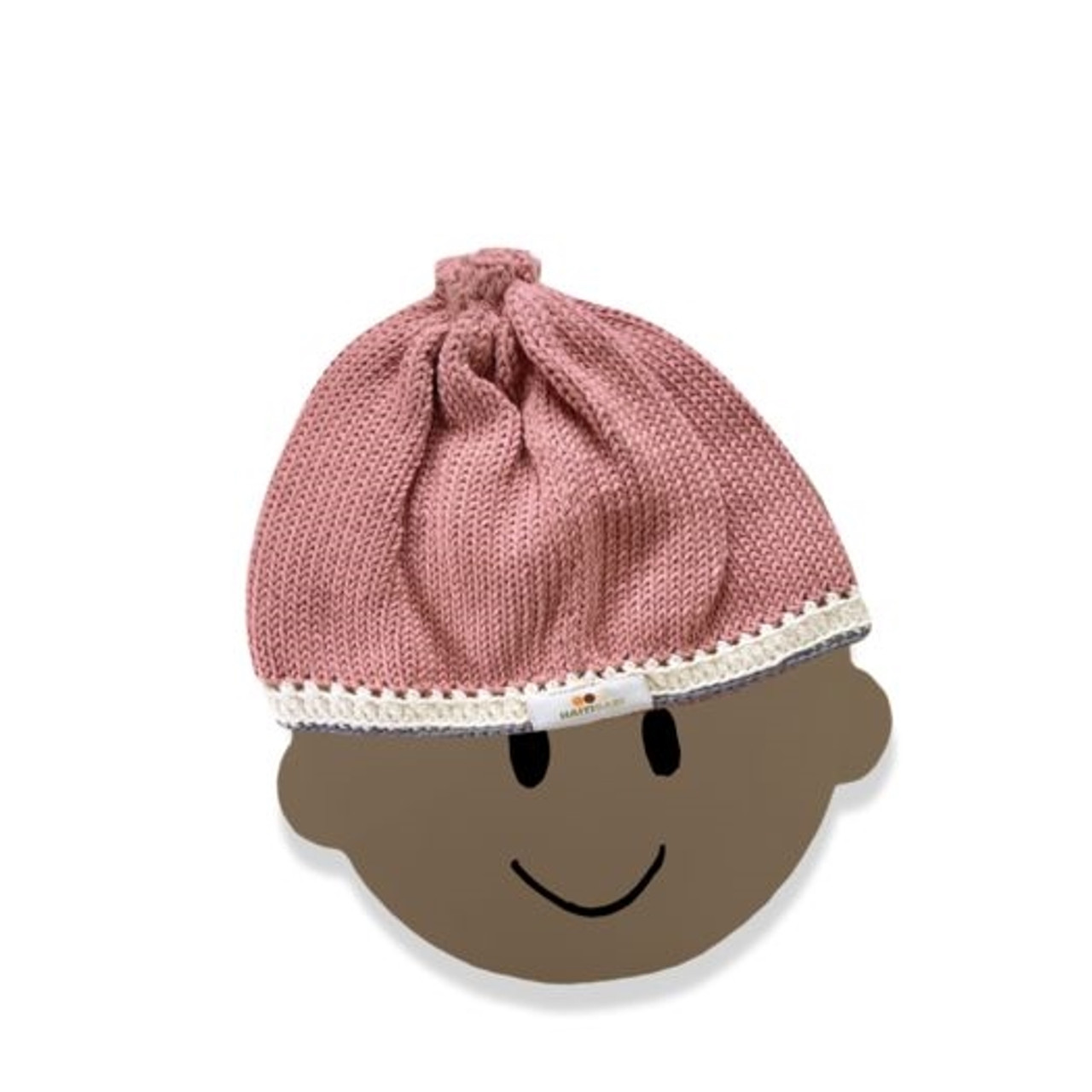 Hand Knit Baby Hat - Pebble and Stone, 0-6m