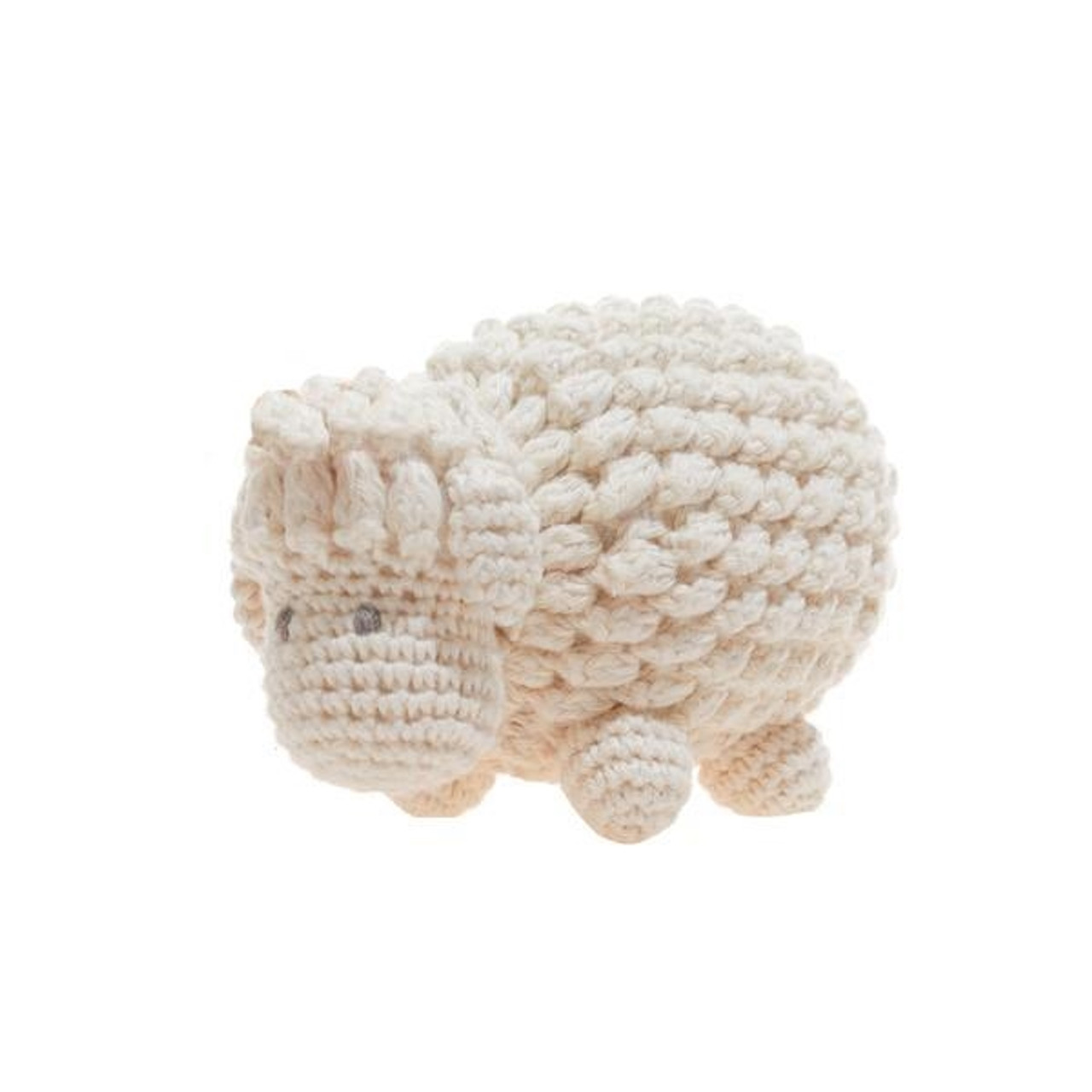 Organic Baby Sheep Rattle Toy