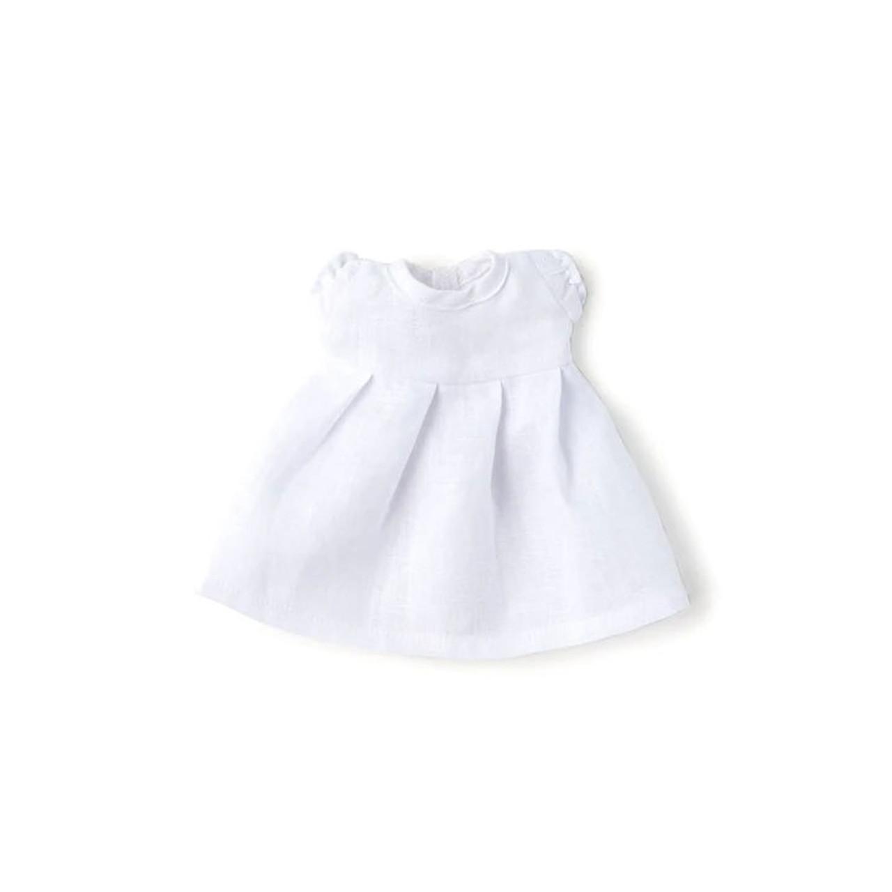 Organic Doll Clothes - White Linen Dress