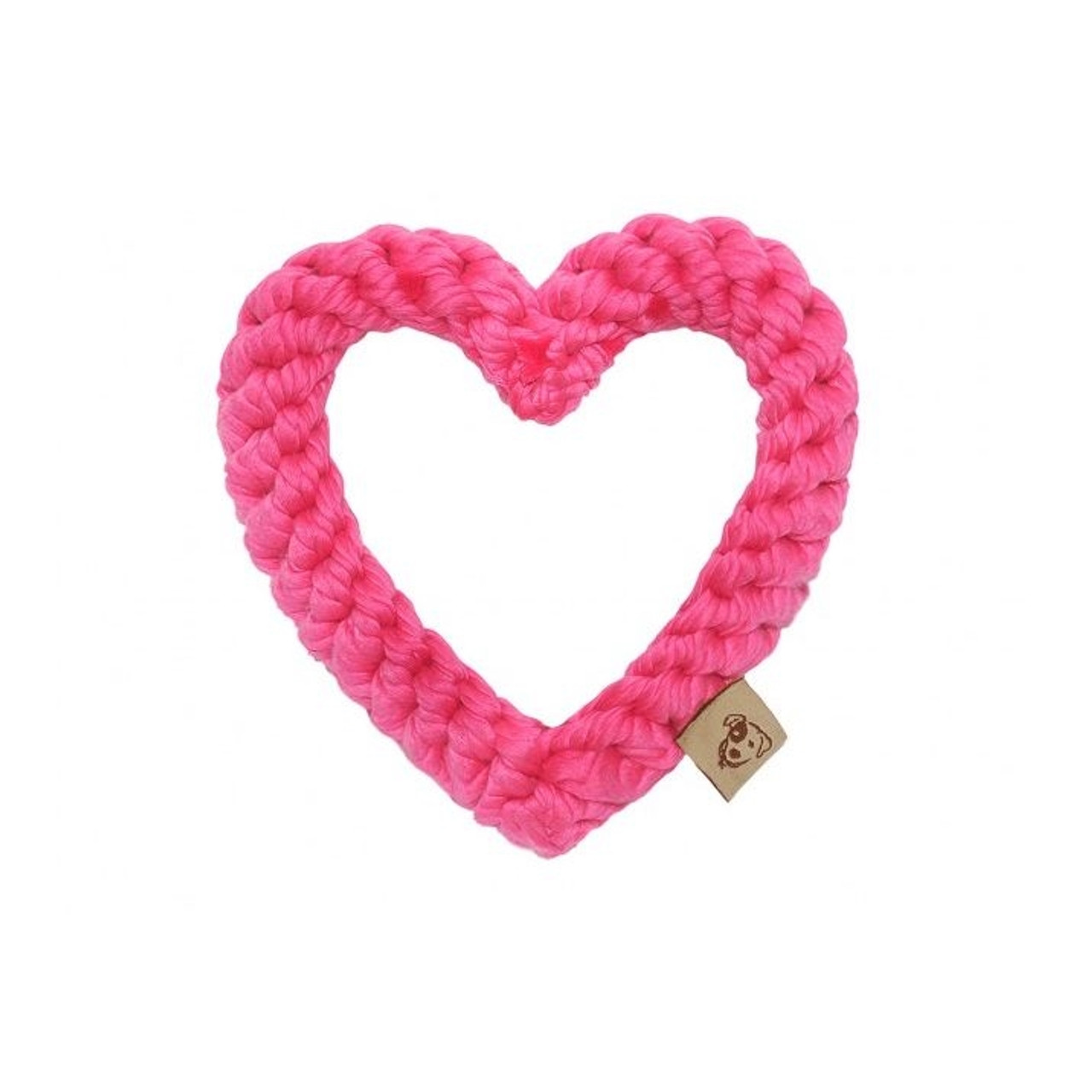 Eco Friendly Dog Rope Toy - Rope Pink Heart