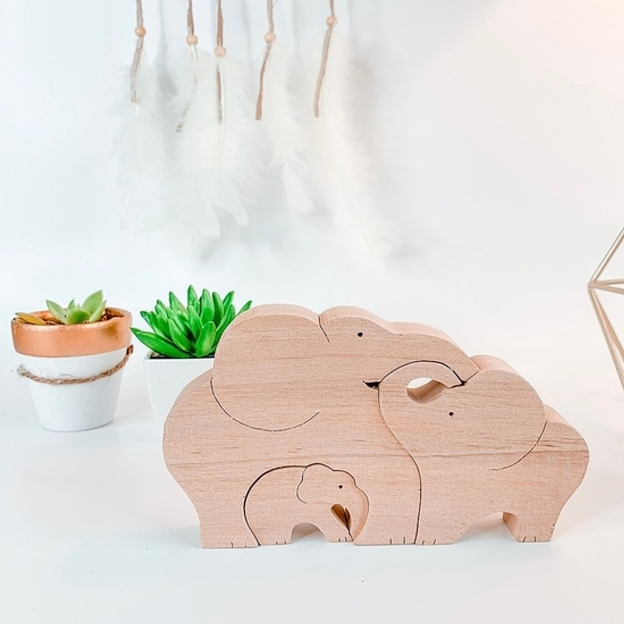 Wooden Toddler Puzzle - Elephant