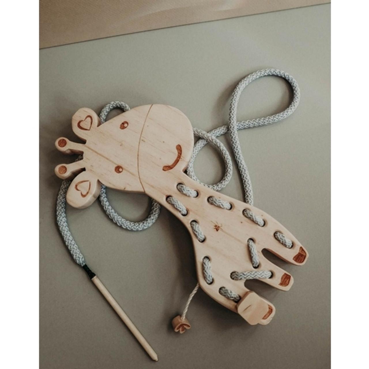 Wooden Giraffe Lacing Toy