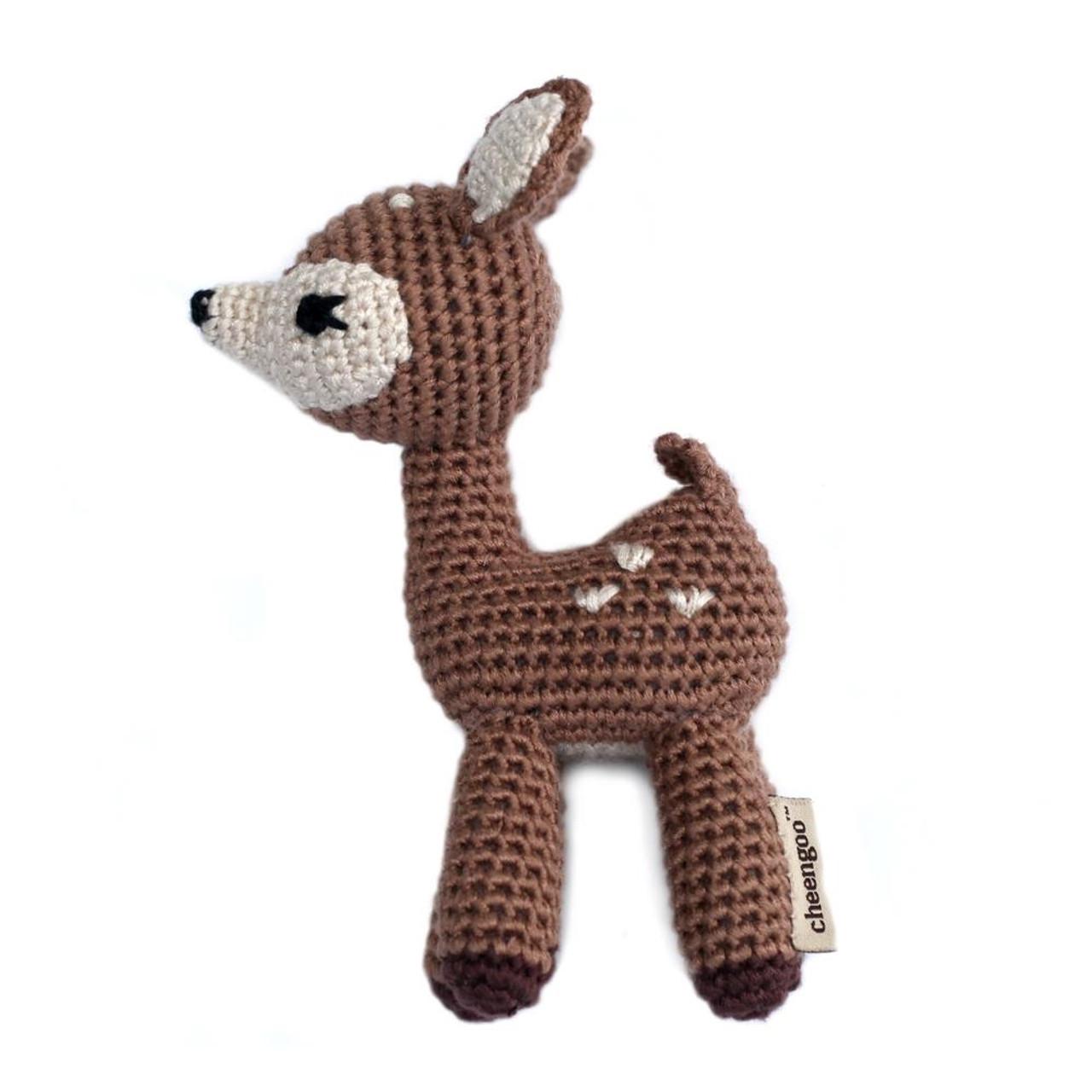 Deer Baby Rattle - Organic