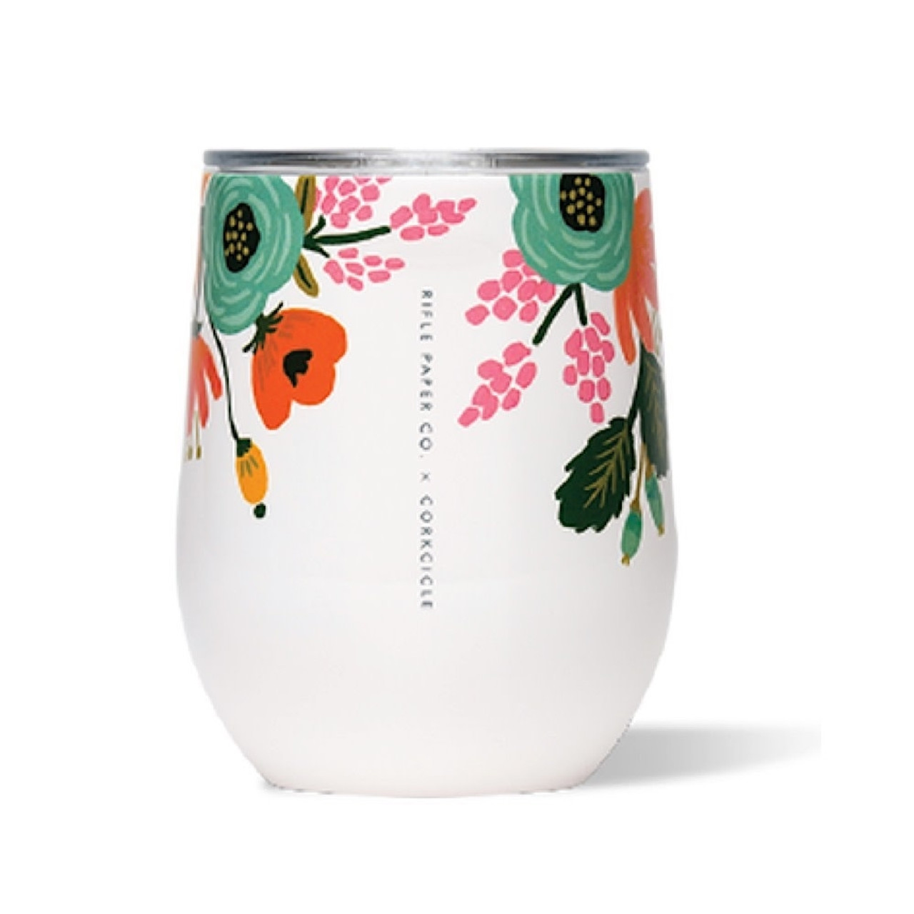 Portable Wine Glass - Insulated - Lively Floral