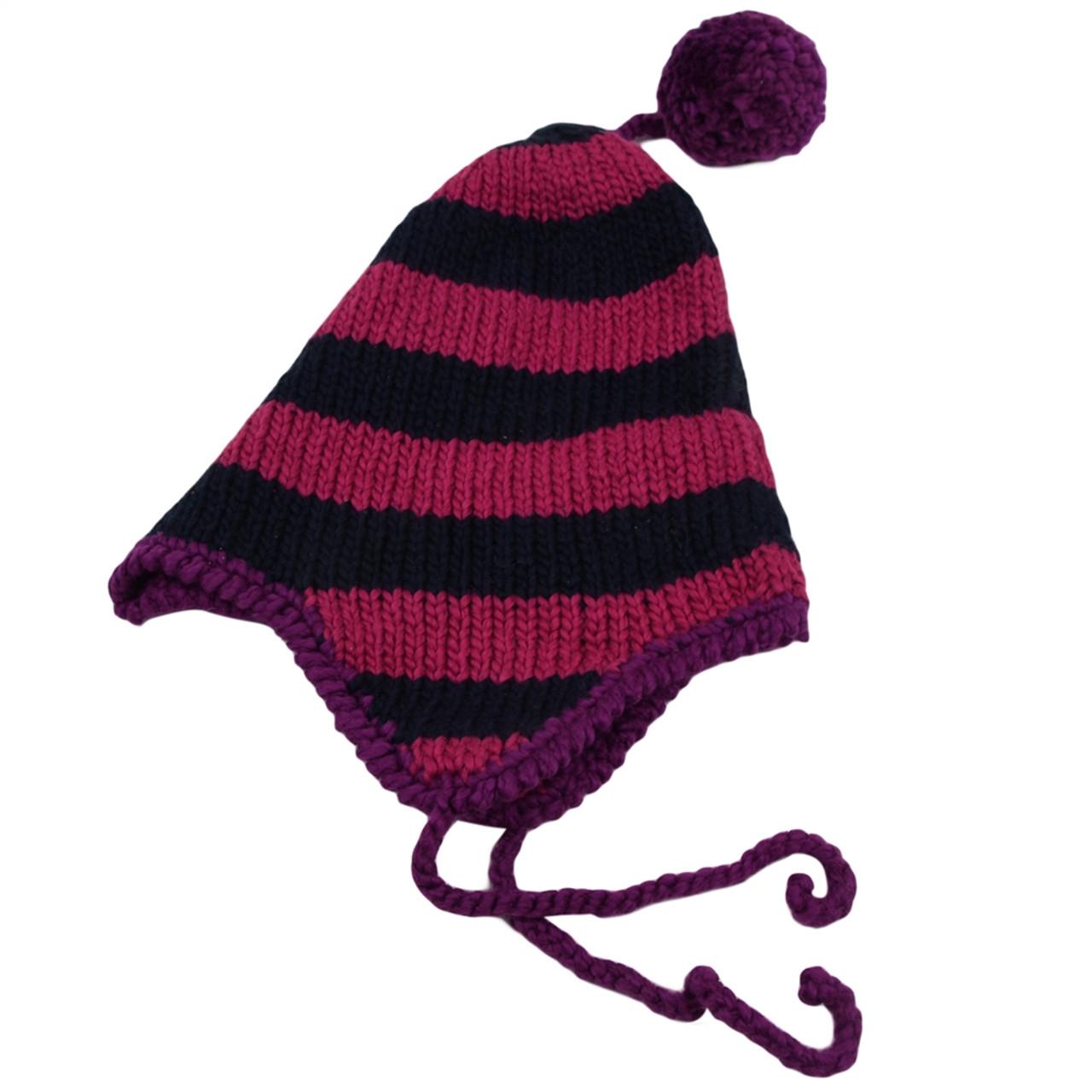 Organic Knit Hat with Pom Pom - 2-4Y