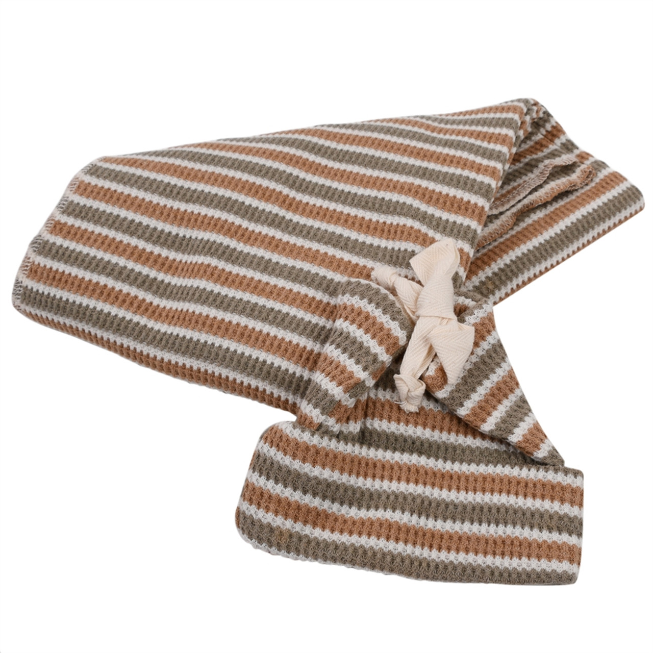 Made in the USA - Thermal Baby Blanket & Hat Set - Stripe