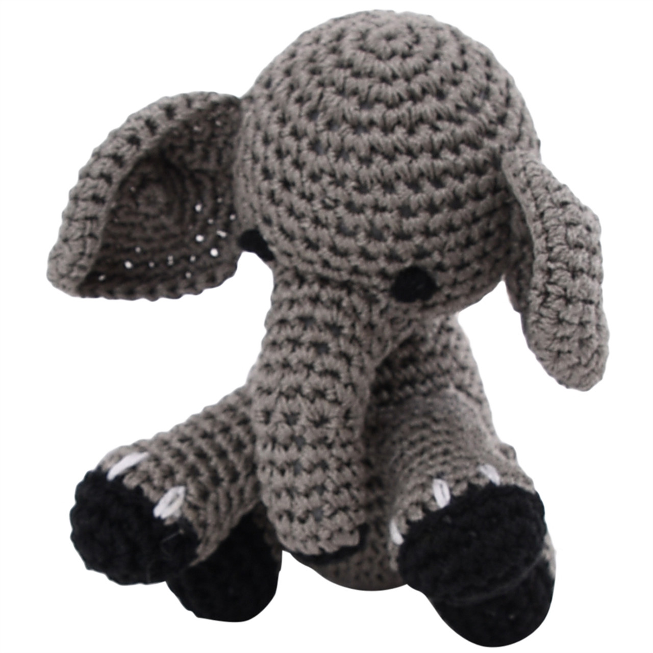Organic Dog or Cat Toy  - Elephant with Squeaker