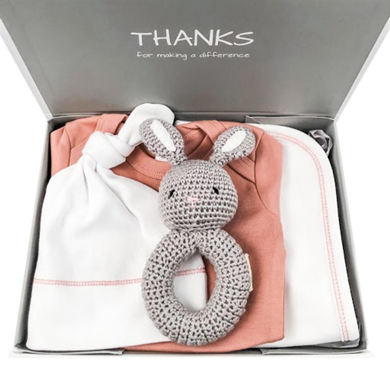 Pink Baby Gift Under $50 - Organic Essentials