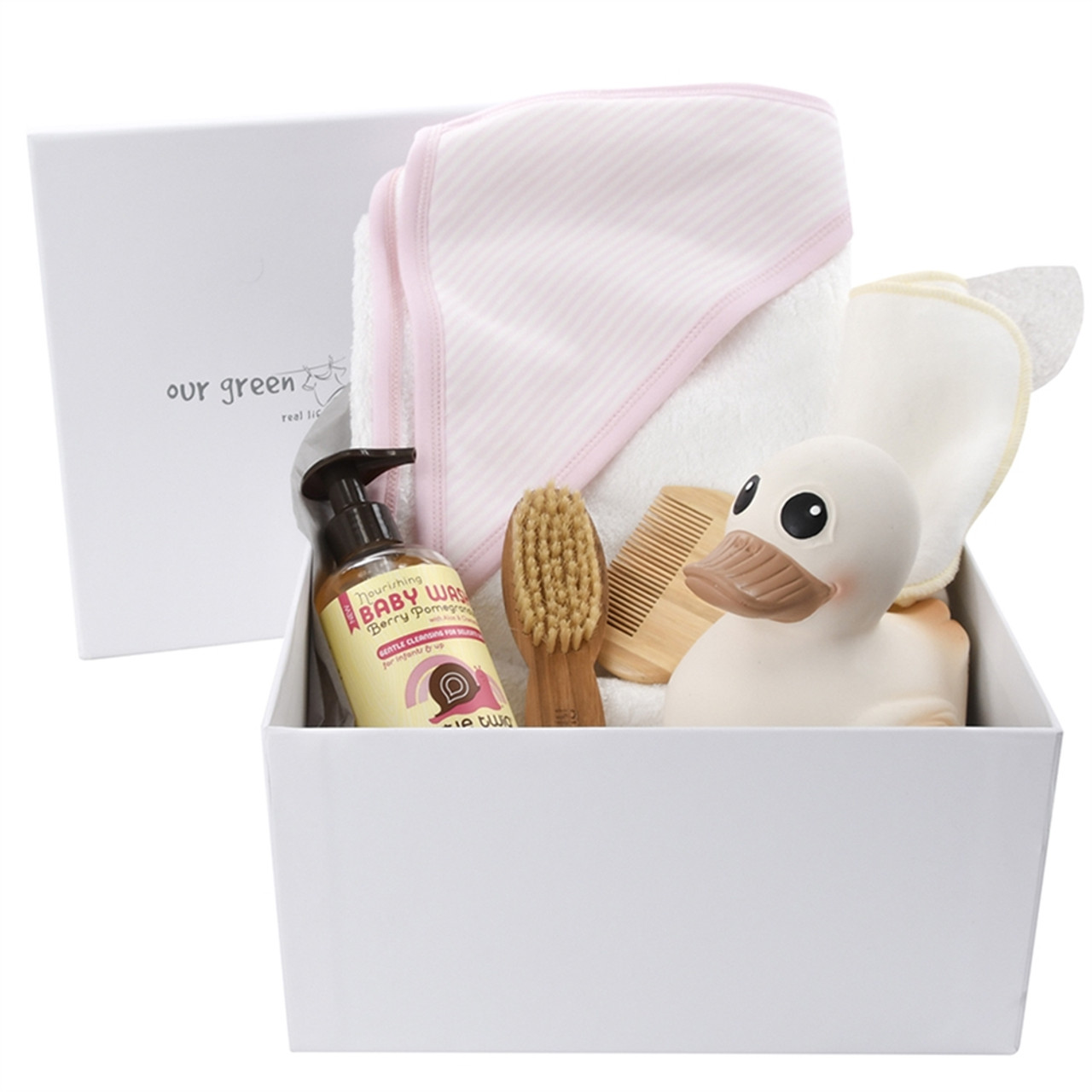 Baby Gift Basket - First Bath - Pink