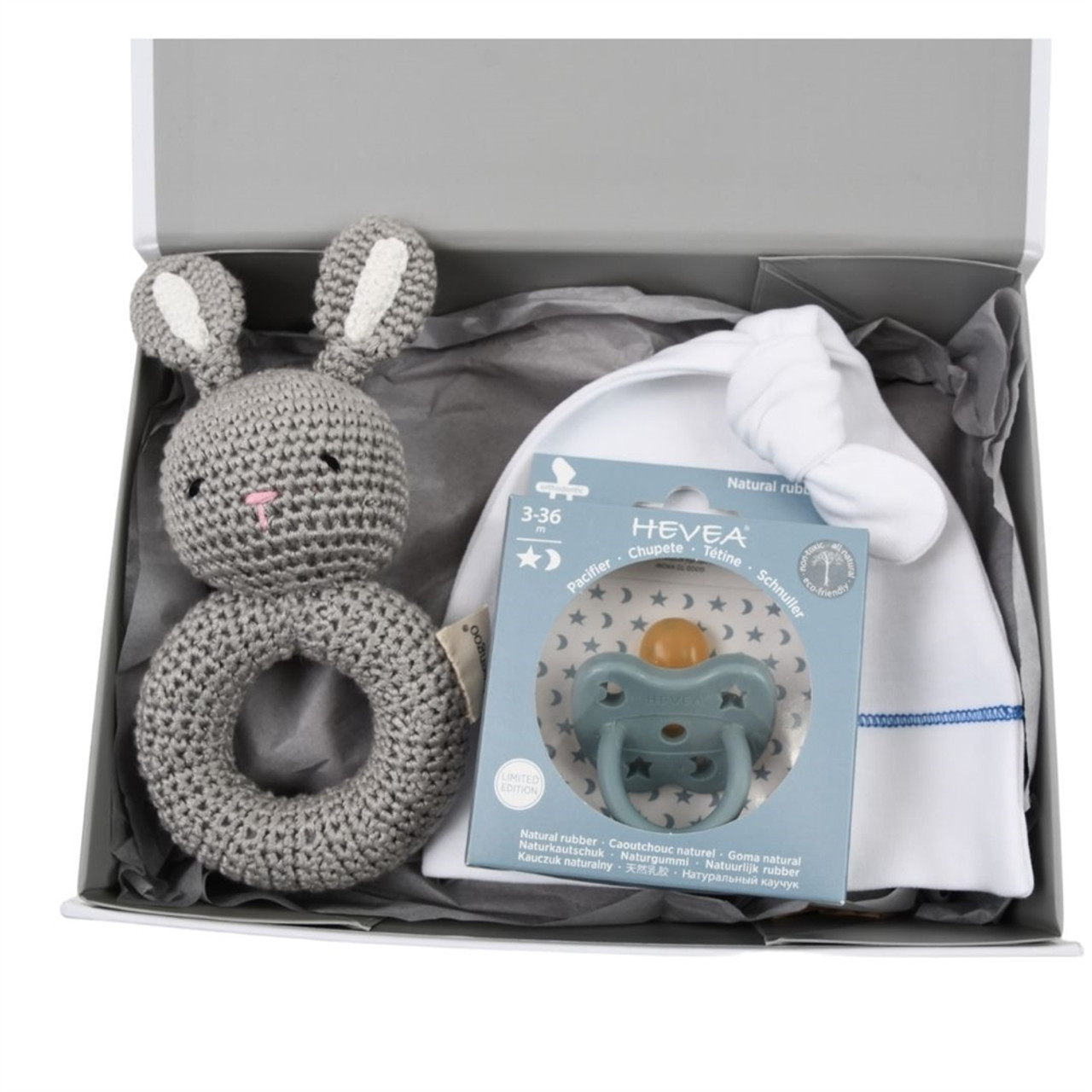 Organic Baby Gift Under $50 - Welcome - Blue