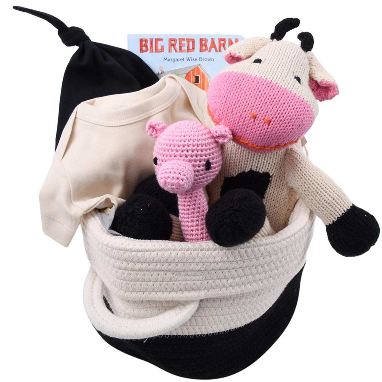 Organic Baby Gift Basket - Farm Baby
